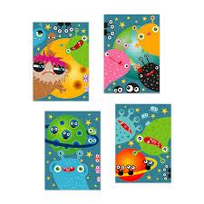 Poster Kinderzimmer Poster Freche Monsterchen Vom Planeten R357 Kinderzimmer