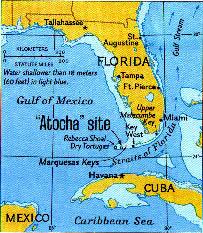 florida shipwrecks map atocha maps