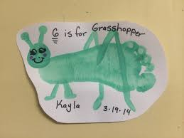 g is for grasshopper abc letter animals pinterest craft