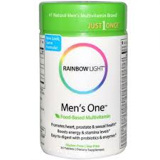 rainbow light just once iron free multivitamin light men s one just once 30 tablets