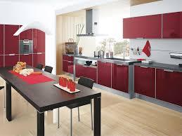 Red Kitchen Decorating Ideas Kitchen Kitchen Cool Red Grey Modern Kitchen Decoration By Red