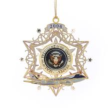 White House Christmas Ornament - 2006 white house ornament symbols of the presidency presidential