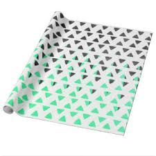 mint wrapping paper triangle wrapping paper zazzle co uk