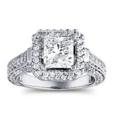 3 carat engagement ring certified 3 carat prong set engagement ring in 14k gold