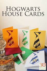 Harry Potter Congratulations Card Harry Potter Hogwarts House Cards 30 Minute Crafts