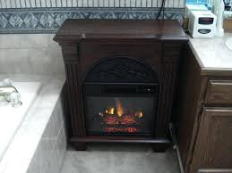 petite foyer electric fireplace big lots cherry wooden mantle