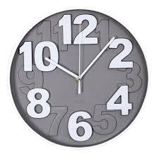 horloge cuisine horloge murale design chiffres en relief ø 30 cm taupe maison