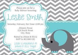 baby shower invitation cards elephant baby shower invitations