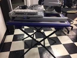 sliding table tile saw kobalt 7 in wet dry tabletop sliding tile saw w stand business