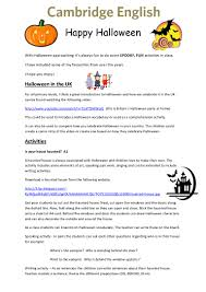 cambridge english halloween ideas for teachers