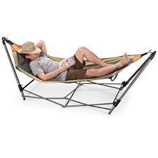 amazon com guide gear portable folding hammock sports u0026 outdoors
