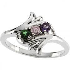 silver mothers ring 3 calla floral mothers ring in sterling silve