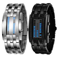 bracelet watches led images Multi function men 39 s watch luxury stainless steel band led digital jpg