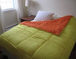 Orange Comforter Quality Twin Xl College Bedding Orange Yellow Reversible College