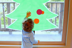 Christmas Window Decorations Sticky by Sticky Contact Paper Christmas Tree For Kids