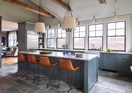 slate blue painted kitchen cabinets 75 beautiful slate floor kitchen with blue cabinets pictures