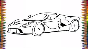 ferrari front drawing how to draw ferrari laferrari fxxr step by step youtube