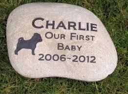 pet memorial pug memorial pet memorials headstone grave marker 9 10 inch