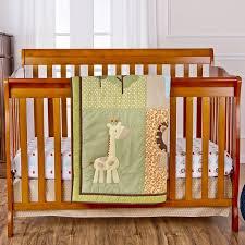 safari animals 3 pc reversible portable crib set little bear