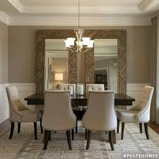 large mirrors in dining room nice idea for a room that feels a