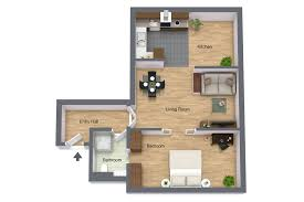 Floor 54 by One Bedroom Attic Apartment No 54 In Residence Karolina