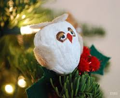 mirandamade owl walnut ornament