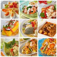 la cuisine thailandaise collage à partir de photographies de la cuisine banque d