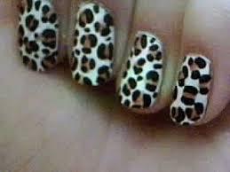 easy leopard print nail art for beginners youtube