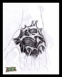 skull tattoo design for hand skull tattoo designs pinterest