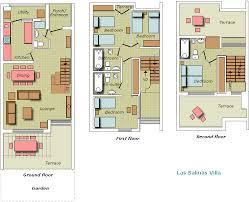 Rental House Plans Floor Plan Villa Rental Spain