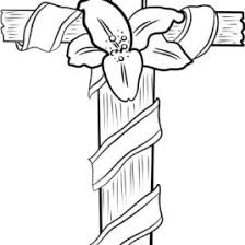 lenten cross coloring page kids drawing and coloring pages
