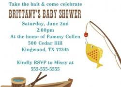 fishing themed baby shower purple and gold baby shower invitations marialonghi
