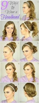 elastic hair band hairstyles 9 ways to wear a headband