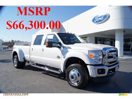 Ford F450 2015 2011 Ford F450 Super Duty Lariat Crew Cab 4x4 Dually In White