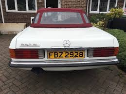 vintage classic white mercedes 280sl rare manual right hand