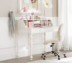 White Writing Desk With Hutch by Desk Pottery Barn Secretary Desk Throughout Staggering White