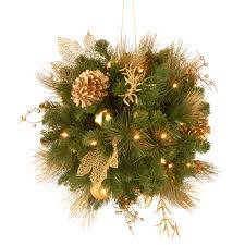 National Tree Outdoor Christmas Decorations by Best Christmas Hanging Baskets With Lights