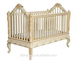 ak28 new arrival design bed side baby cot golden baby crib new