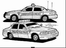 unbelievable police car coloring pages printable with police car