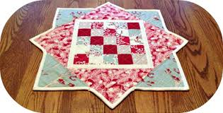 easy winter table topper free tutorial