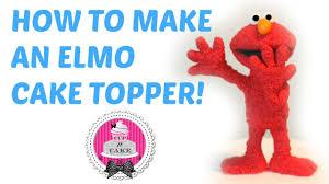 elmo cake topper how to make an elmo cake topper out of fondant