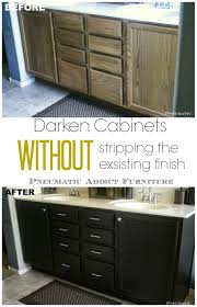 How To Update Kitchen Cabinets Without Painting Darken Cabinets Without Stripping The Existing Finish Someday