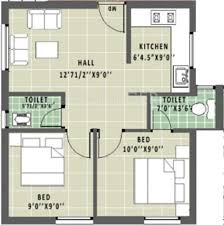 600 sq ft 2 bhk floor plan image annai aathika available rs