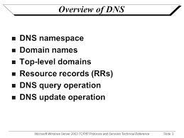 Domain Naming System Dns Tech by Microsoft Windows Server 2003 Tcp Ip Protocols And Services