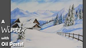 how to paint a winter landscape in pastel