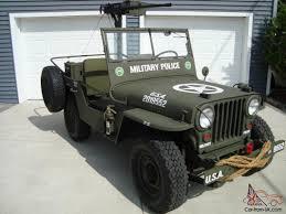 jeep military 1946 cj2a u s army ww2 type military police style jeep w 50 caliber