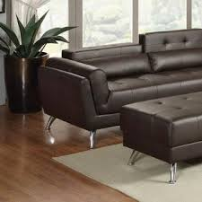 Living Room Sectionals With Chaise Esofastore Living Room Sectional Sofa Chaise Espresso Bonded