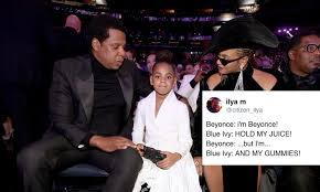 Blue Ivy Meme - beyonce held blue ivy s snacks at the grammys fans are loving it