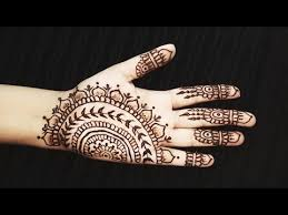simple indian henna side palm mehendi easy unique mehndi