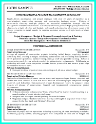 project manager resume exles cool cool construction project manager resume to get applied